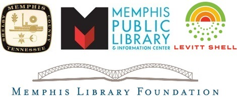 MPLIC, City of Memphis, Levitt Shell, Memphis Library Foundation LOGOS