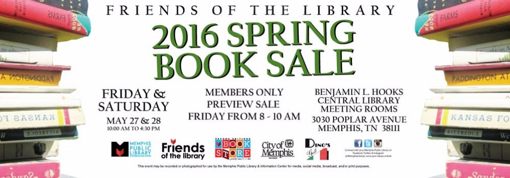 Friends of the Library Spring Book Sale on May 27th & 28th